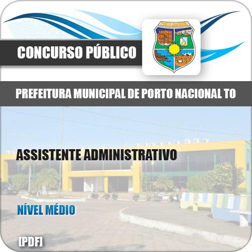 Apostila Pref Porto Nacional TO 2019 Assistente Administrativo