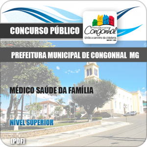 Apostila Pref Congonhal MG 2019 Médico Saúde da Família