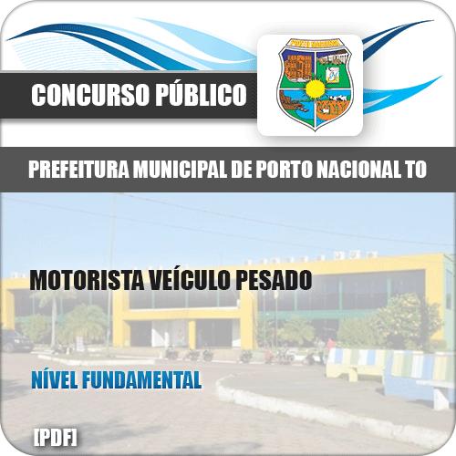 Apostila Pref Porto Nacional TO 2019 Motorista Veículo Pesado