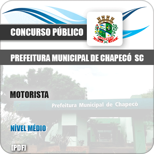 Apostila Concurso Pref Chapecó SC 2019 Motorista