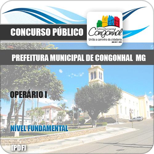 Apostila Concurso Pref Congonhal MG 2019 Operário I