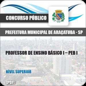 Apostila Pref Araçatuba SP 2019 Professor de Ensino Básico I PEB I