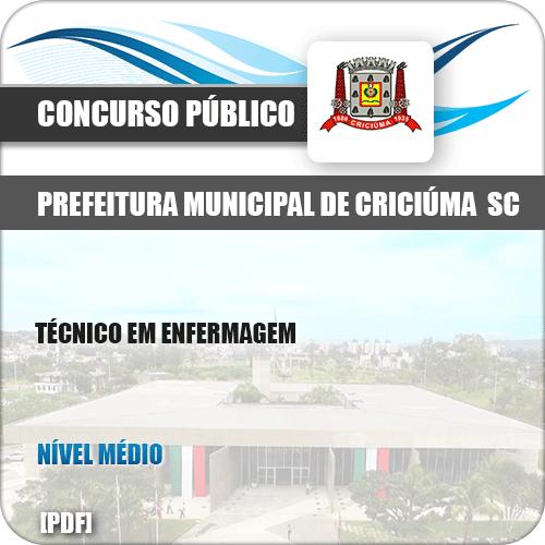 Apostila Pref Criciúma SC 2019 Técnico em Enfermagem