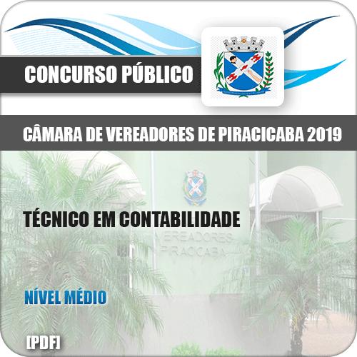 Apostila Câmara Piracicaba SP 2019 Técnico em Contabilidade