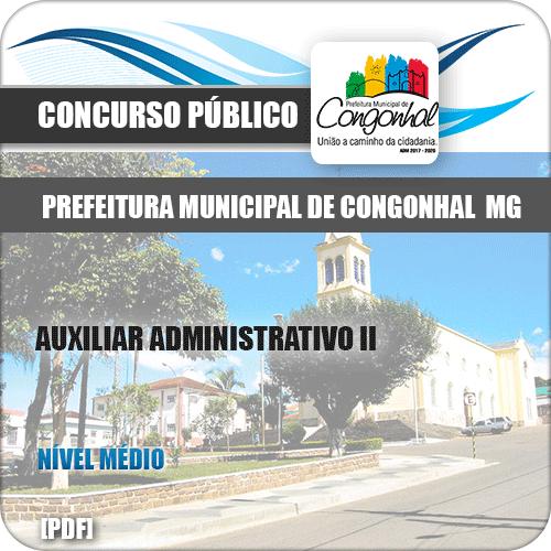 Apostila Pref Congonhal MG 2019 Auxiliar Administrativo II