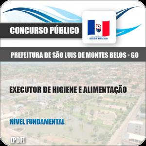 Apostila São Luis Montes Belos GO 2019 Executor Higiene Alimentação