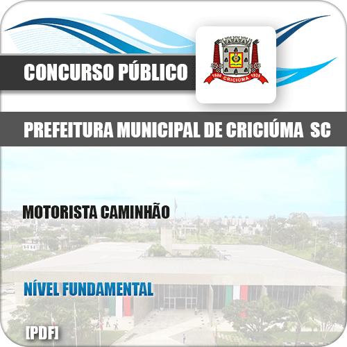 Apostila Concurso Pref Criciúma SC 2019 Motorista Caminhão