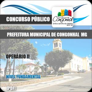 Apostila Concurso Pref Congonhal MG 2019 Operário II