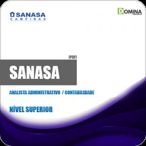 Apostila SANASA SP 2019 Analista Administrativo Contabilidade