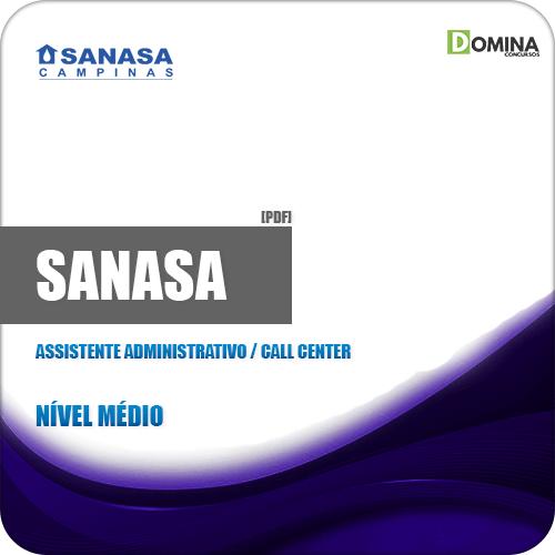 Apostila SANASA SP 2019 Assistente Administrativo Call Center