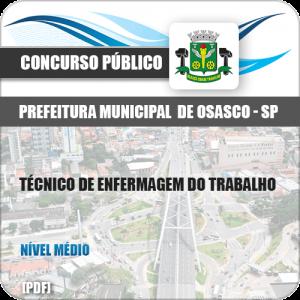 Apostila Pref Osasco SP 2019 Técnico de Enfermagem do Trabalho