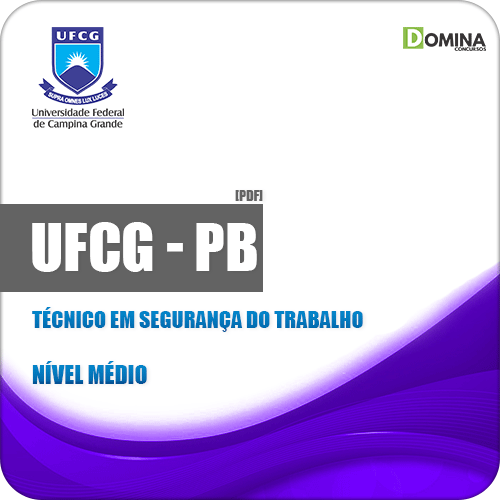 Apostila UFCG PB 2019 Técnico em Segurança do Trabalho