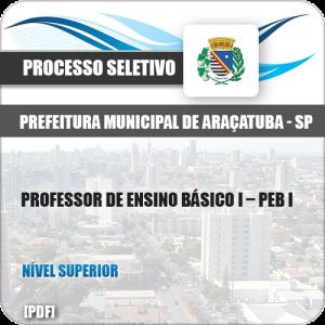 Apostila Seletivo Araçatuba SP 2019 Prof Ensino Básico I PEB I