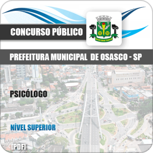 Apostila Concurso Pref Osasco SP 2019 Psicólogo