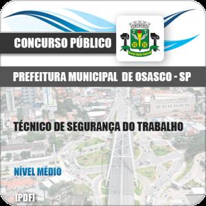 Apostila Pref Osasco SP 2019 Técnico de Segurança do Trabalho