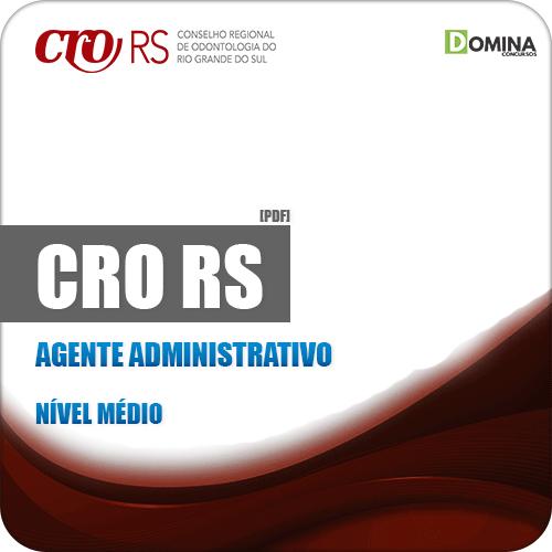 Apostila Concurso Público CRO RS 2019 Agente Administrativo