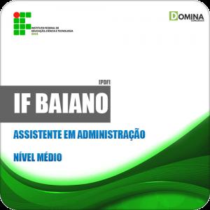 Apostila Concurso IF Baiano BA 2019 Assistente em Administração