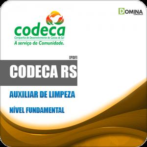 Apostila CODECA Caxias do Sul RS 2019 Auxiliar de Limpeza