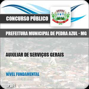 Apostila Pref Pedra Azul MG 2019 Auxiliar de Serviços Gerais