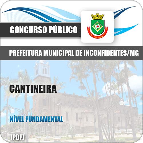 Apostila Concurso Público Pref Inconfidentes MG 2019 Cantineira