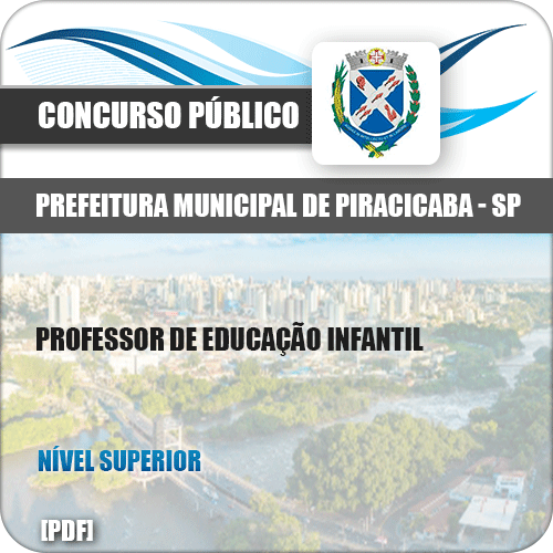 Apostila Pref Piracicaba SP 2019 Professor de Educação Infantil
