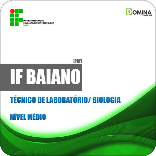 Apostila IF Baiano BA 2019 Técnico de Laboratório Biologia