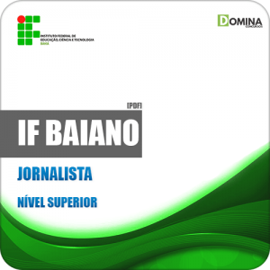 Apostila Concurso Público IF Baiano BA 2019 Jornalista