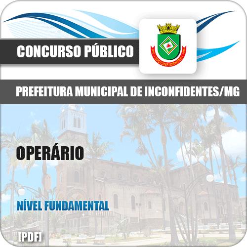 Apostila Concurso Pref Inconfidentes MG 2019 Operário