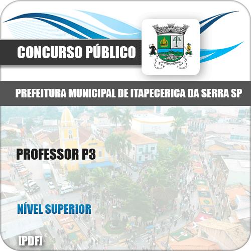 Apostila Pref Itapecerica Serra SP 2019 Professor P3