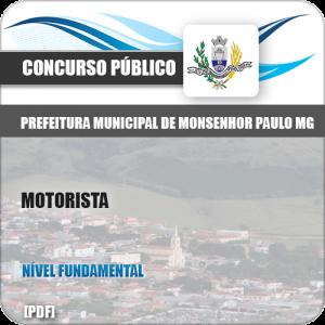 Apostila Concurso Pref Monsenhor Paulo MG 2019 Motorista