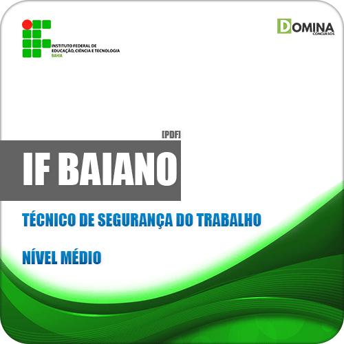 Apostila IF Baiano BA 2019 Técnico de Segurança do Trabalho
