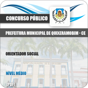 Apostila Concurso Pref Quixeramobim CE 2019 Orientador Social