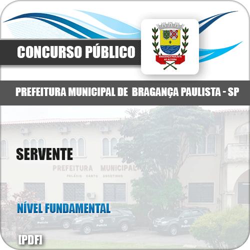 Apostila Concurso Pref Bragança Paulista SP 2019 Servente
