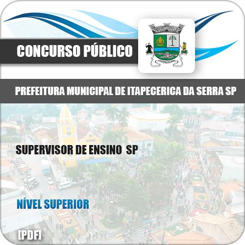 Apostila Pref Itapecerica Serra SP 2019 Supervisor de Ensino SP