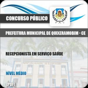 Apostila Pref Quixeramobim CE 2019 Recepcionista Serviço Saúde
