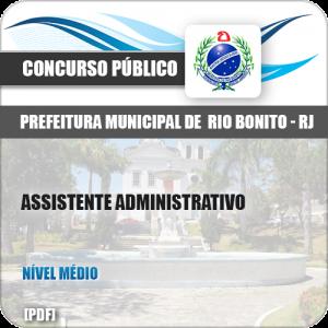 Apostila Concurso Pref Rio Bonito RJ 2019 Assistente Administrativo