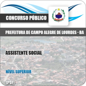 Apostila Campo Alegre Lourdes BA 2019 Assistente Social