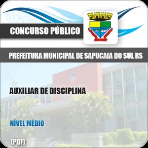 Apostila Pref Sapucaia do Sul RS 2019 Auxiliar de Disciplina