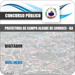 Apostila Concurso Pref Campo Alegre Lourdes BA 2019 Digitador
