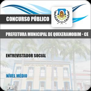 Apostila Concurso Pref Quixeramobim CE 2019 Entrevistador Social