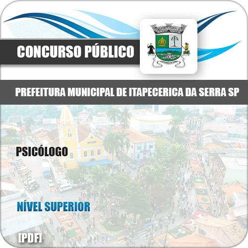 Apostila Concurso Pref Itapecerica Serra SP 2019 Psicólogo