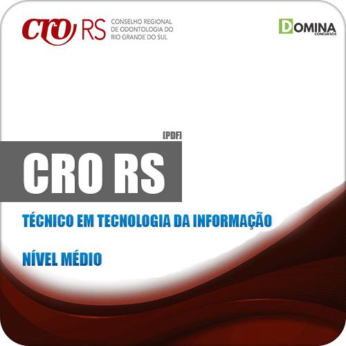Apostila CRO RS 2019 Técnico em Tecnologia da Informação