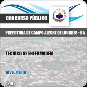 Apostila Pref Campo Alegre Lourdes BA 2019 Técnico de Enfermagem
