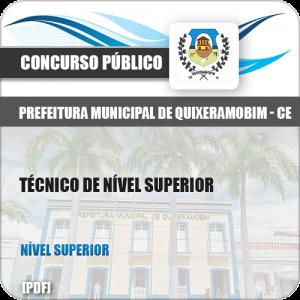 Apostila Pref Quixeramobim CE 2019 Técnico de Nível Superior