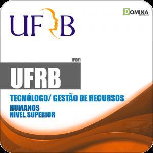 Apostila UFRB 2019 Tecnólogo Gestão de Recursos Humanos