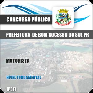 Apostila Concurso Pref Bom Sucesso do Sul PR 2019 Motorista