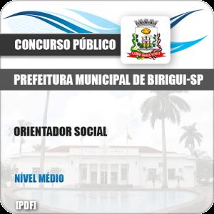 Apostila Concurso Pref Birigui SP 2019 Orientador Social
