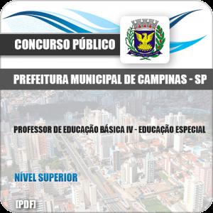 Apostila Pref Campinas SP 2019 Professor IV Educação Especial