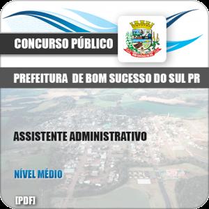 Apostila Bom Sucesso do Sul PR 2019 Assistente Administrativo