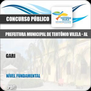 Apostila Concurso Público Pref Teotônio Vilela AL 2019 Gari